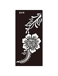 1pc Fake Glitter Henna Mehndi Airbrush Stencil Tattoo Women Body Art Flower Temporary Tattoo Sticker S216