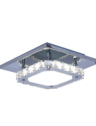 Modern/Contemporary Crystal / LED White Light Stainless Steel Crystal Ceiling Light Flush Mount Living Room / Hallway