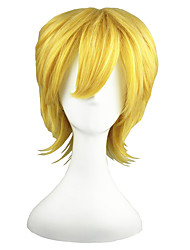 Cosplay Wigs Kingdom Hearts Villetta Nu Golden Short Anime Cosplay Wigs 35 CM Heat Resistant Fiber Male / Female