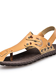 Men's Shoes Outdoor / Office & Career / Athletic / Dress / Casual Nappa Leather Sandals Big Size Brown