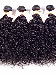 Brazilian Curly Virgin Hair 4 Bundles 7A Unprocessed Kinky Curly Virgin Hair Bundles Brazilian Hair Weave Human Hair