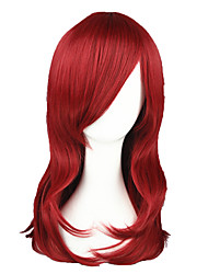 Cosplay Wigs Naruto Victorique De Blois Red Medium Anime Cosplay Wigs 55 CM Heat Resistant Fiber Male / Female