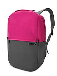 pofoko® 13,3 polegadas tecido impermeável oxford laptop mochila rosa / amarelo
