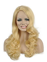 Natural long Blonde Color Popular Wave Synthetic Wig For Woman