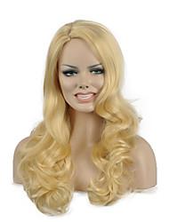 mode couleur blond longue longueur perruques synthétiques de qualité supérieure
