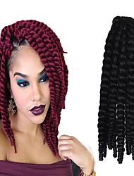 12-24 дюйма вязания крючком оплетка Havana Mambo Afro поворот выдвижение волос 2 # с крючком