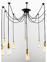 Edison Retro Artistic Chandeliers 10 Heads Design Living Room/Dining Room Study Room/office pendant lights