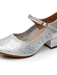 Sapatos de Dança(Prateado / Dourado) -Feminino-Personalizável-Moderna