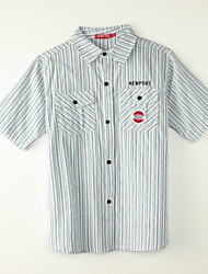 Boy's Polyester Shirt,Summer Striped