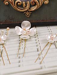 Mulheres Plástico Capacete-Casamento Ocasião Especial Casual Ao ar Livre Alfinete de Cabelo 3 Peças