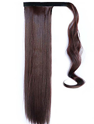 Brown-Black 60CM Synthetic High Temperature Wire Wig Straight Hair Ponytail Color 33