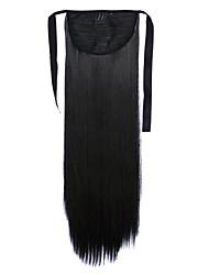longue prêle perruque de cheveux raides noir longueur 60cm type de liaison synthétique (couleur 1BJ)