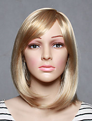 Capless Colorful Blonde Length High Quality Natural Straight Synthetic Wig