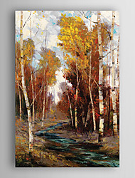 Hand Painted Oil Painting Landscape Wooded Stream with Stretched Frame 7 Wall Arts®