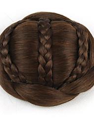 crépus chignons bouclés capless mariée europe brun cheveux humains perruques sp-189 2009