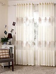 Deux Panneaux Européen Mosaïque Comme image Salle de séjour Polyester Panneau Rideaux rideaux