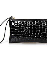 Women Patent Leather Casual Evening Bag Blue / Black / Fuchsia
