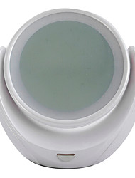 1PCS Double-sided Rotate 360 Degree Adjustable 5 X Magnification LED Lighted Makeup Mirror