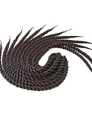 # 4 Havanna Twist Braids Haarverlängerungen 12 14 16 18 20 22 24 Kanekalon 12 Strand 80-120g/pack Gramm Haar Borten