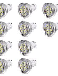 7W GU10 Spot LED MR16 16 SMD 5630 560 lm Blanc Froid Décorative AC 100-240 V 10 pièces