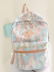 Women Outdoor Canvas Zipper Backpack