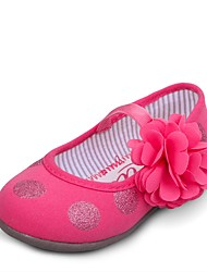 UOVO Baby Shoes Dress / Casual Canvas Flats / Loafers Pink / Ivory / Silver