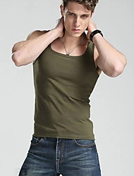 Men's V neck Gym Tank Tops Fashion 100% Cotton  Sport Undershirts For Male Bodybuilding Tank Tops Casual Summer Vest