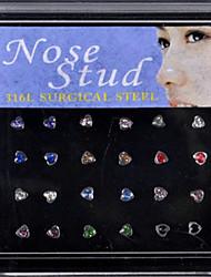 Anneaux de nez & Goujons / Piercing nasal Acier inoxydable Bohemia style Doré / Argent Bijoux,1set