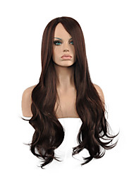 Natural Long Length Brown Color Popular Synthetic Wig For Woman