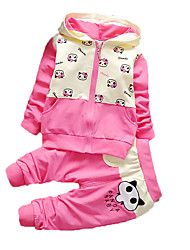 New Spring and Autumn Children Clothes Child Clothing Girls Sportswear Set ,Cute