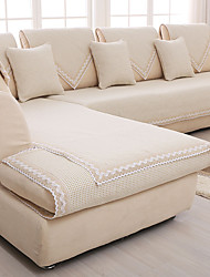Cotton/linen Slip-resistant Slipcover Fashion Four Seasons Fabric Sofa Cushion Pure And Fresh Beige Sofa Cover