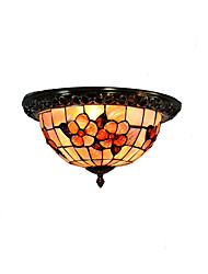 Retro Tiffany Ceiling Lamp /Shell Shade Flush Mount Living Room Dining Room light Fixture