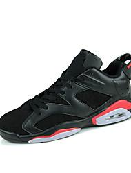 Sapatos Masculinos-Tênis Social-Azul / Preto e Vermelho / Preto e Branco-Couro Ecológico-Casual