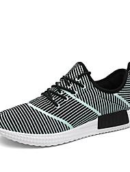 Men's Fluorescence Running Shoes Tulle Black / Red / White