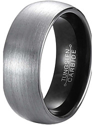 Ring Fashion Wedding / Party / Daily / Casual Jewelry Tungsten Steel Men Couple Rings / Band Rings 1pc,7 / 12 / 13 Gray