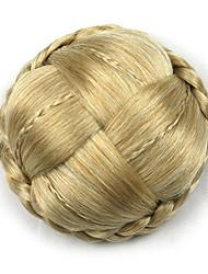 Kinky ouro encaracolado grande tecer chignons cabelo humano sem tampa perucas 1003