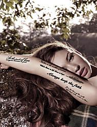 la moda fe tatuajes temporales de arte corporal atractiva a prueba de agua pegatinas tatuaje 5pcs (tamaño: 3.74 '' de 6,69 '')