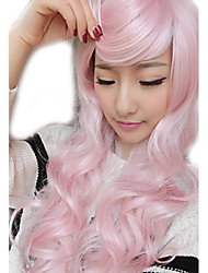 The New Harajuku Wig Ladies' Non-mainstream Pink Curly Hair Wig 70 cm