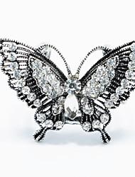 argent antique anneau accessoires bijoux en forme de papillon Broche foulard boucle foulard pour dame