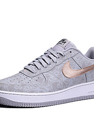 Nike Air Force 1 07 LV8 Men's Shoe Skate Casual Walking Athletic Sneakers Shoes Grey Gold