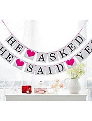 "Vintage Kraft"" He Asked She Said Yes"" Wedding Engagement Banner Buntings"