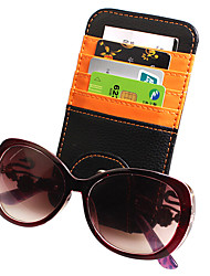 Microfiber Leather Multifunctional Sun Block Glasses Clip Paper Clips Card Folders Business Card Holder