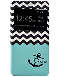 âncoras pintado tensão coldre pu tampa do telefone material de concha para o Huawei Ascend P9 / P9 Lite