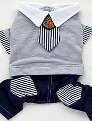 Chien Combinaison-pantalon Bleu Vêtements pour Chien Hiver Printemps/Automne Jeans cow-boy Mode