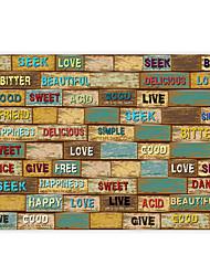 винтажная кожа эффект хоккей большой муральные обои слова граффити ресторан искусство декора стен бумага стены