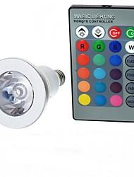 3W E14 Ampoules Globe LED A50 1 LED Haute Puissance 100-200 lm RVB Commandée à Distance AC 85-265 V 1 pièce