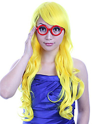 24 inch Women Long Body Wave Synthetic Hair Wig 4 Colors with Free Hair Net