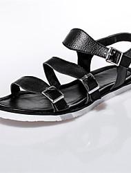 Women's Spring / Summer / Fall Gladiator Leather Dress / Casual Flat Heel Black / White