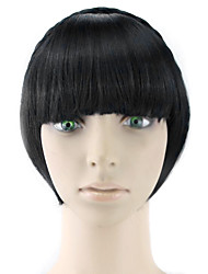 Wig Black 15CM High-Temperature Wire Temples Colour 4010