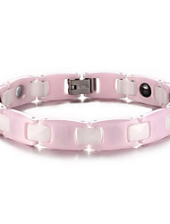 Hematite Ceramic Magnetic Therapy Bracelet Health Care Pink Health Care bracelet Jewelry gift